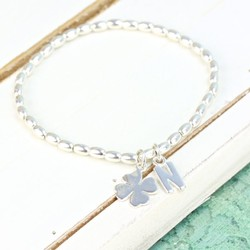 Handmade Sterling Silver Good Luck Bracelet With Initial