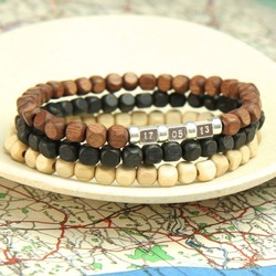 Personalised Handmade Men's Secret Message Bracelet