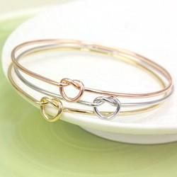 Set of Three Love Knot Bangles