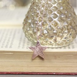 Estella Bartlett Bright Star Necklace in Rose Gold