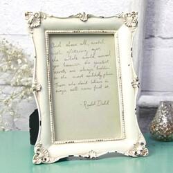 Cream Rectangular Romantic Photo Frame