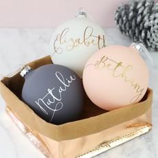 personalised christmas baubles decorations lisa angel uk