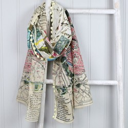 Disaster Designs 'Bon Voyage' Postcard Scarf