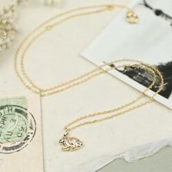 Estella Bartlett 'Secret Garden' Rabbit Necklace In Gold
