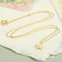 Estella Bartlett 'Enjoy The Little Things' Gold Star Necklace