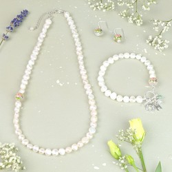 Dainty Freshwater Nugget Pearl Jewellery Set