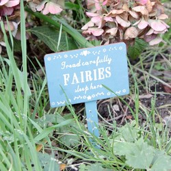 'Fairies Sleep Here' Sign