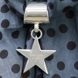 Personalised Star Scarf Rings Silver plated Lisa Angel
