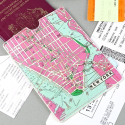 New York Map Passport Sleeve