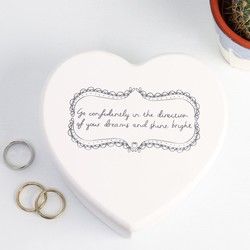 'Go Confidently' Heart Jewellery Box