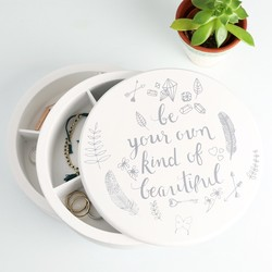 'Be Your Own Kind Of Beautiful' Jewellery Box