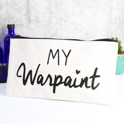 'My Warpaint' Quote Make Up Bag