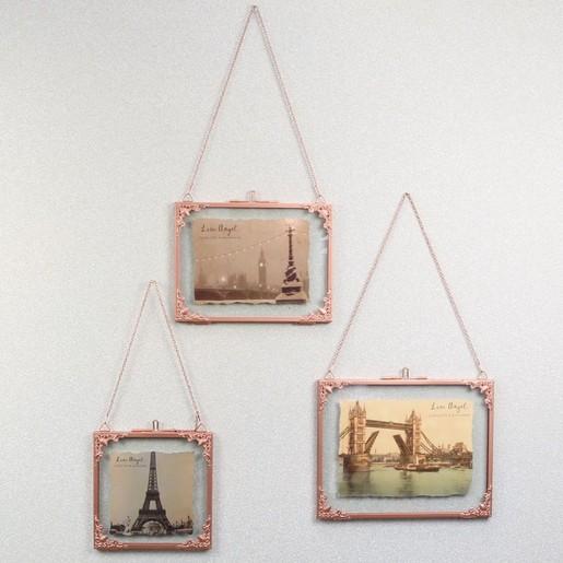 Square Hanging Filigree Copper Frame   Lisa Angel Homeware