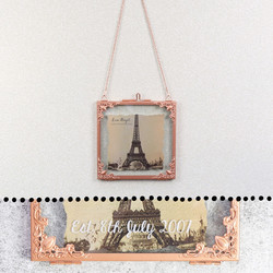 Personalised Square Hanging Filigree Copper Frame