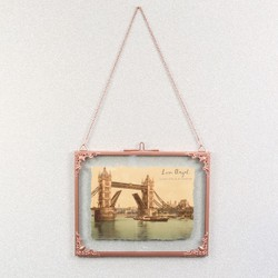 Large Rectangular Hanging Filigree Copper Frame