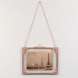 Small Rectangular Hanging Filigree Copper Frame