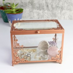 Copper & Glass Jewellery Display Box