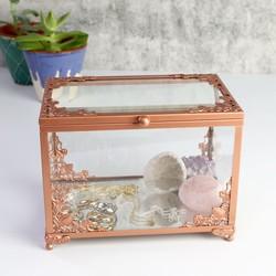 Copper & Glass Jewellery Display Box