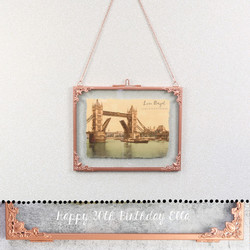 Personalised Large Rectangular Hanging Copper Frame