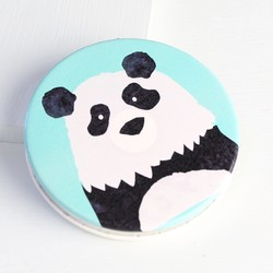 Disaster Designs Penny Black Panda Compact Mirror