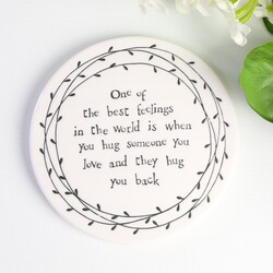 East of India 'Hugs' Porcelain Coaster