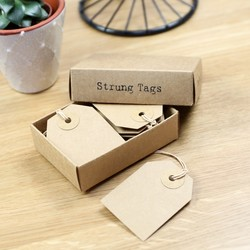 East of India Pack of Strung Kraft Gift Tags