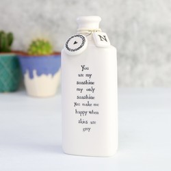 East Of India 'You Are My Sunshine...'  Porcelain Bottle