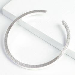 Brushed Silver Bar Bangle