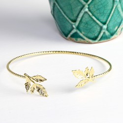 Fern Bangle in Gold