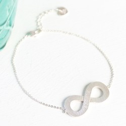Personalised Silver Infinity Bracelet