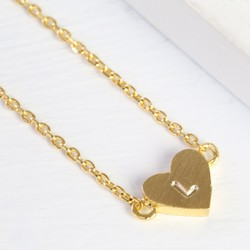 Personalised Dainty Gold Heart Necklace