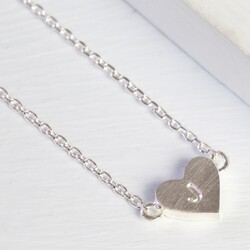 Personalised Dainty Silver Heart Necklace