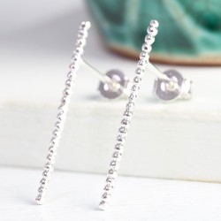 Long Twisted Ear Climber in Silver