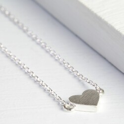 Dainty Silver Heart Necklace