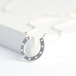 Lucky Horseshoe Necklace in Silver