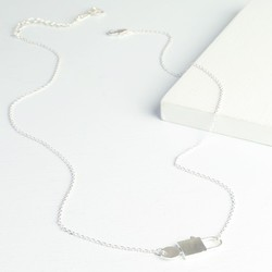 Silver Miniature Padlock and Key Necklace