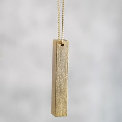 Bold Gold Bar Necklace