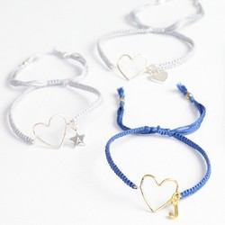 Personalised Heart Outline Friendship Bracelet