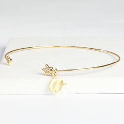 Personalised Sparkly Gold Star Bangle