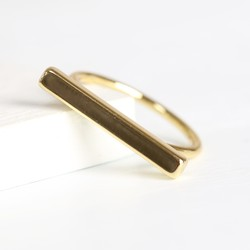 Orelia Gold Bar Ring