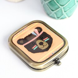 Bear Tribal Compact Mirror