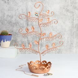 Copper Earring Tree