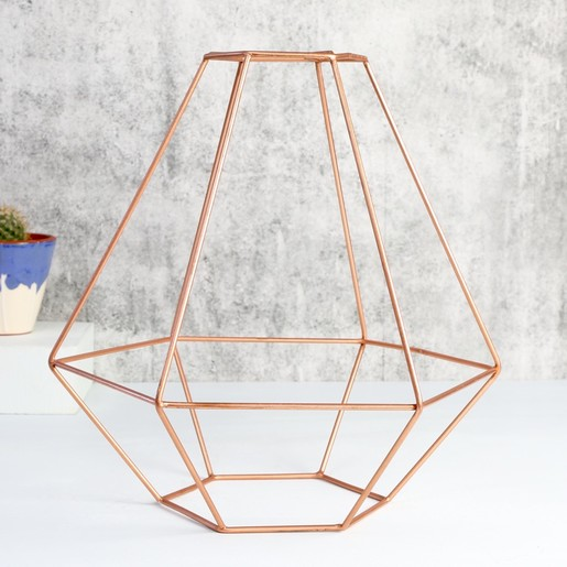 Geometric copper lamp shade lighting lisa angel geometric copper lamp shade light fitting greentooth Image collections