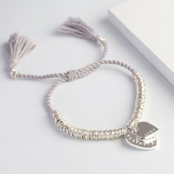Personalised Double Heart Edie Bracelet