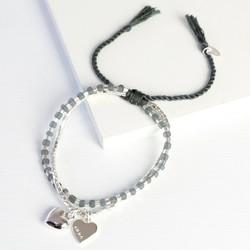 Personalised Puffed Heart Friendship Bracelet
