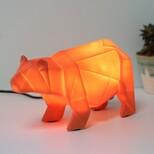 Disaster Designs Nordikka Orange Origami Bear Lamp
