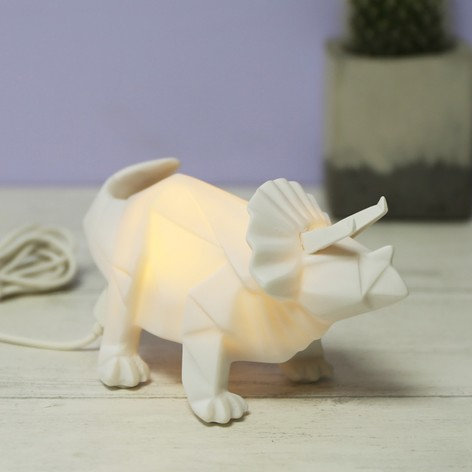 House Of Disaster Mini LED Origami Triceratops Dinosaur Night Light