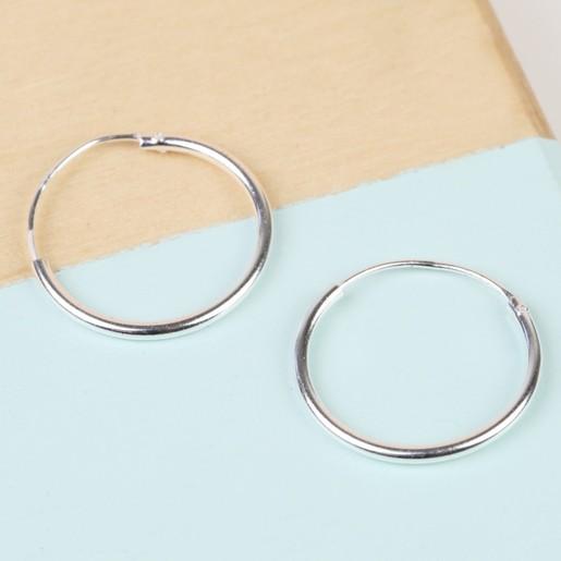 20e1066af Medium Sterling Silver Hoop Earrings | Lisa Angel