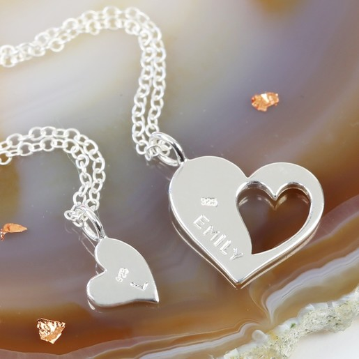 To My Daughter Necklaces Pendant Heart Gifts From Mommy Daughter Love Mom