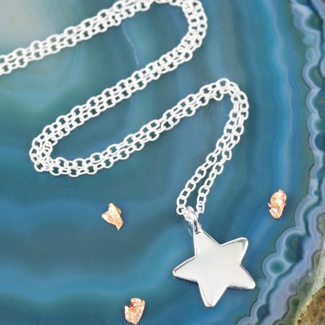 Sterling silver star pendant necklace lisa angel sterling silver star pendant necklace mozeypictures Image collections